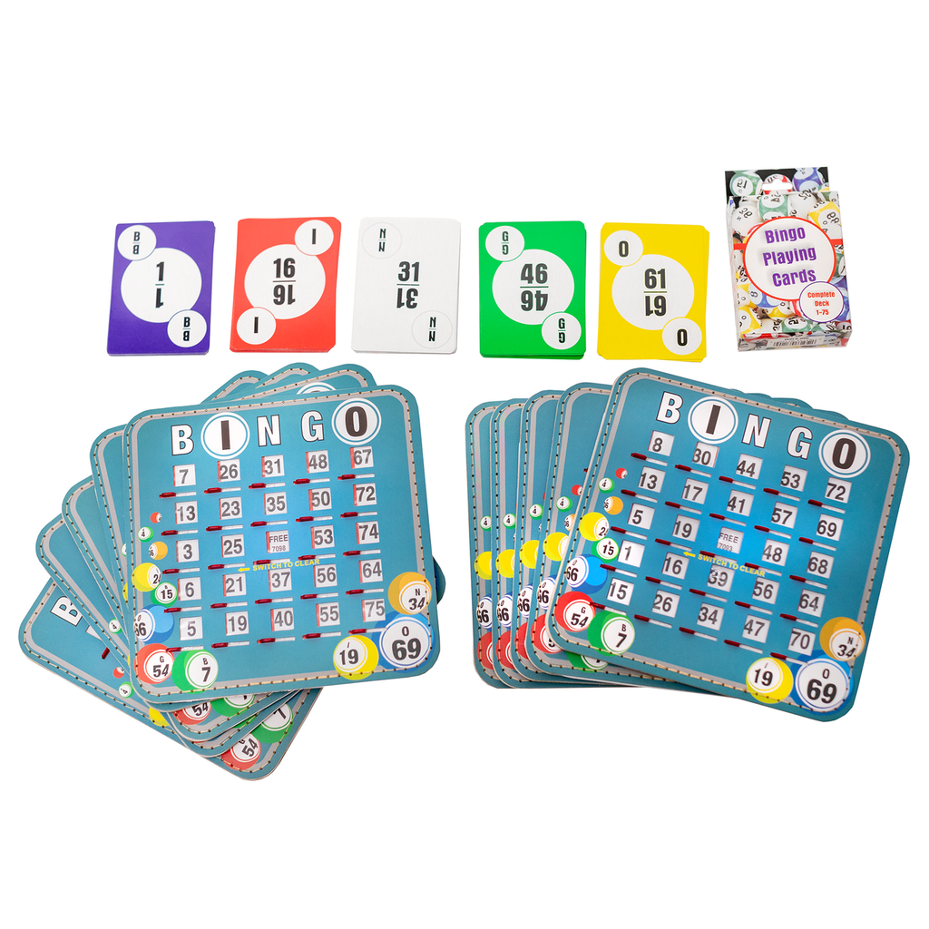 Home Bingo Game Set - 10 Bingo Ball Design Shutter Cards - Deck of Bingo Calling Cards - SKU HBSBC