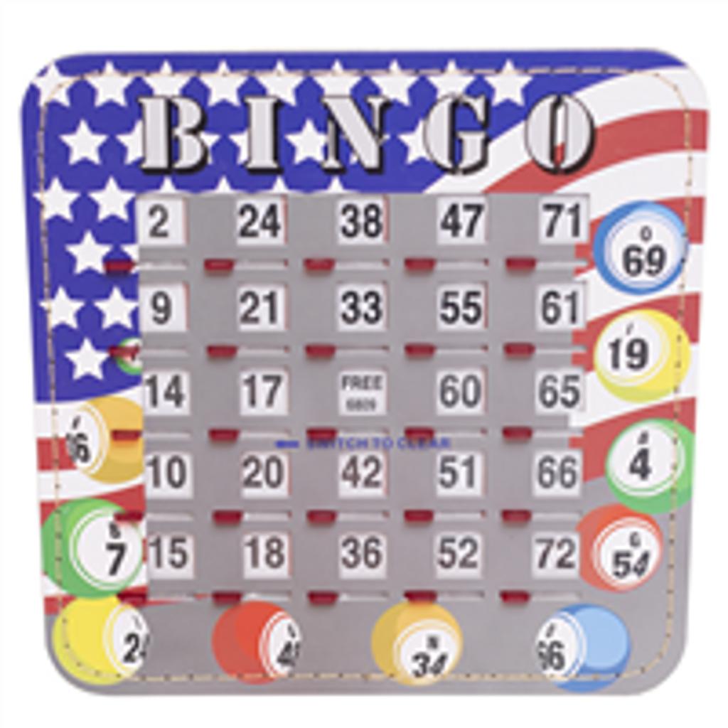Bingo Shutter Cards - Patriotic Design - 10 per pack - SKU B008130P