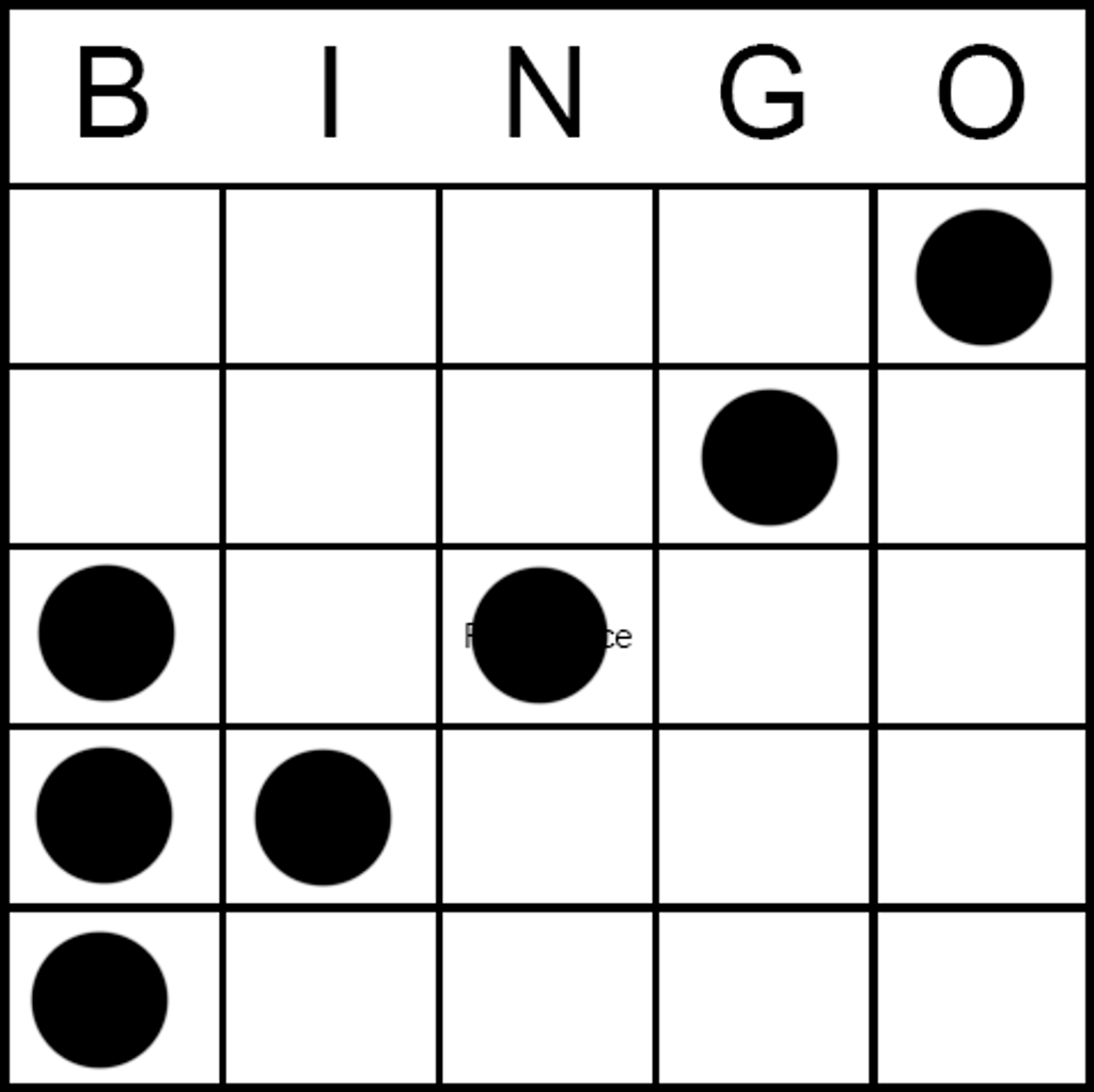 Bingo Game Pattern - Check Mark