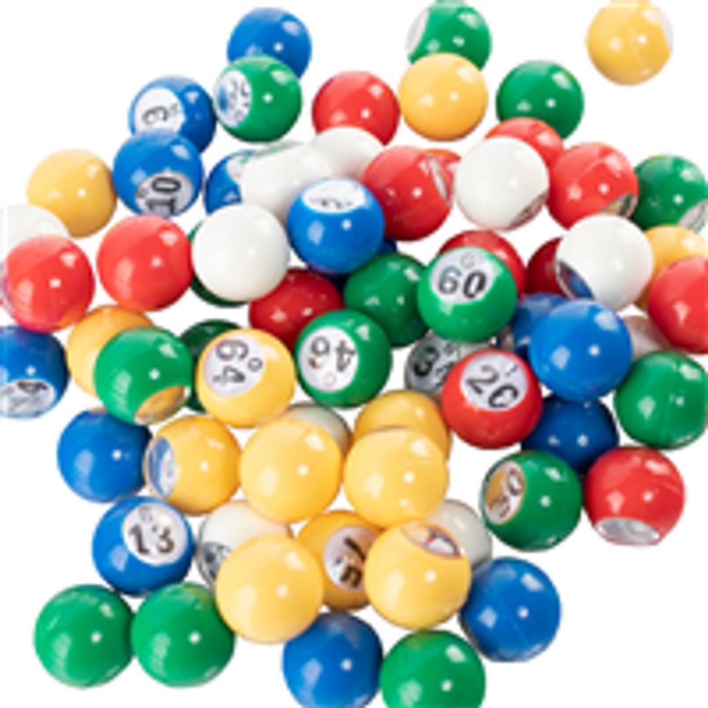 Multiple Color Bingo Balls - 7/8 inch size - Bingo Equipment - SKU B007130