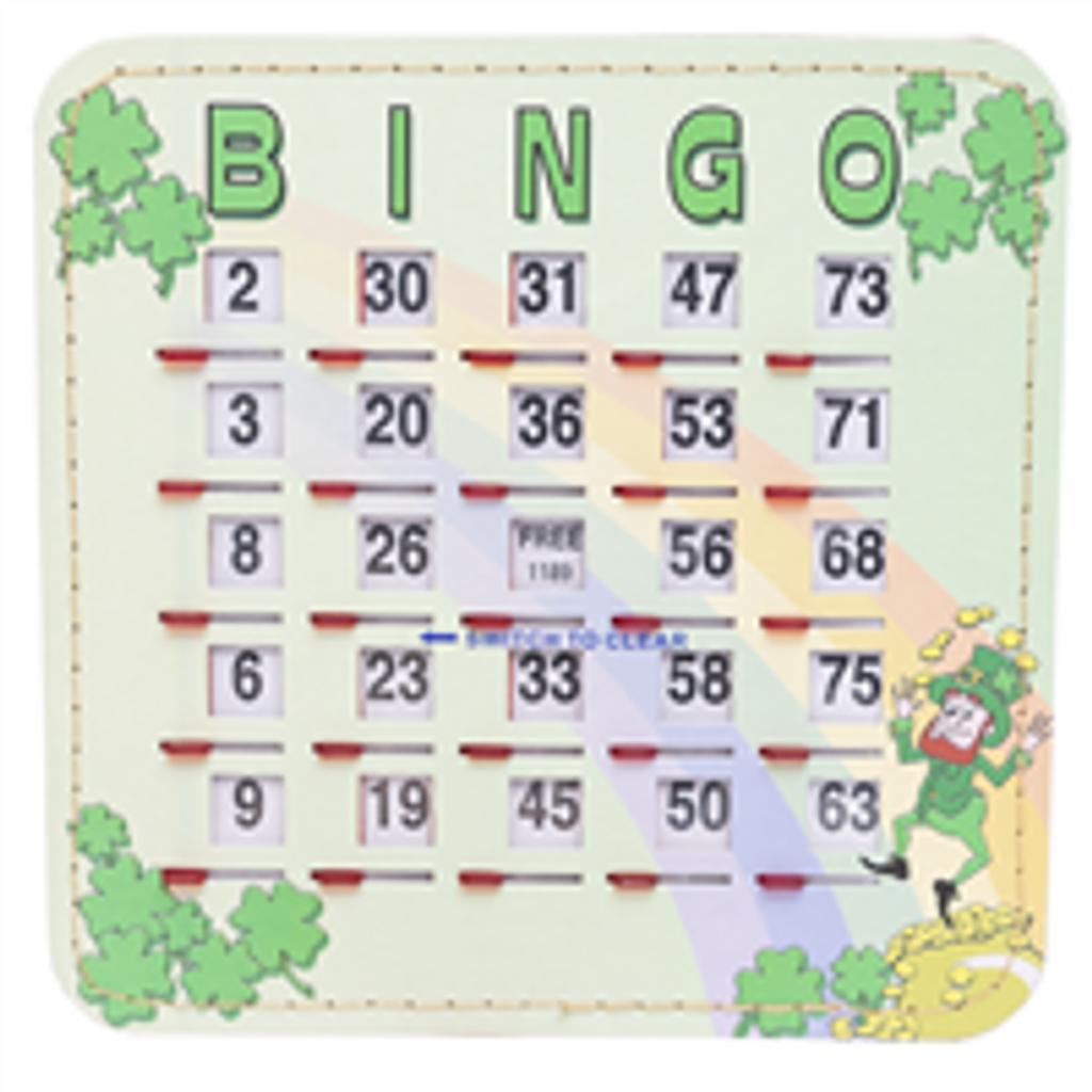 Shamrock Bingo Shutter Card, 1