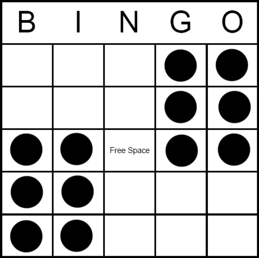 Bingo Game Pattern - Double Six Pack Hard way