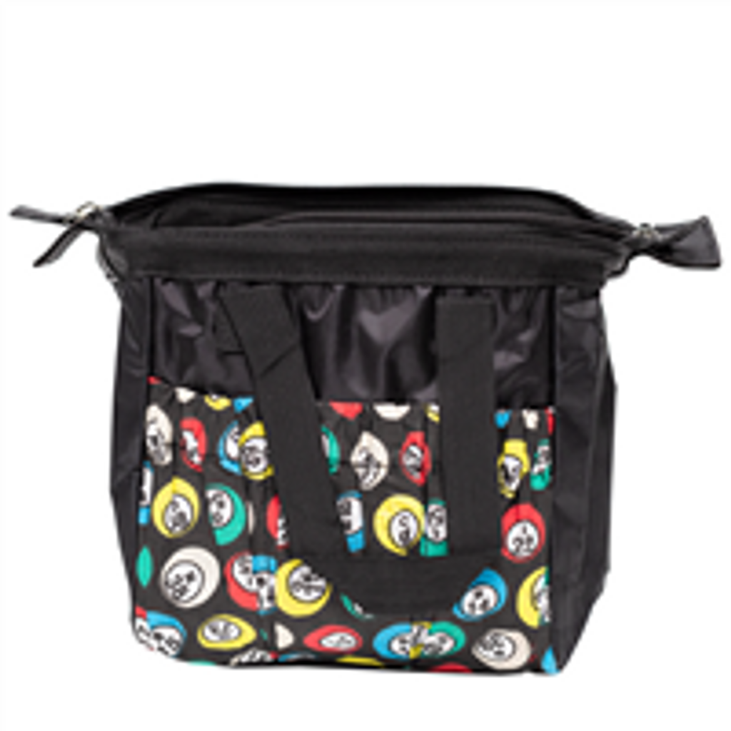 Black Bingo Bag w/zipper, 6 pockets