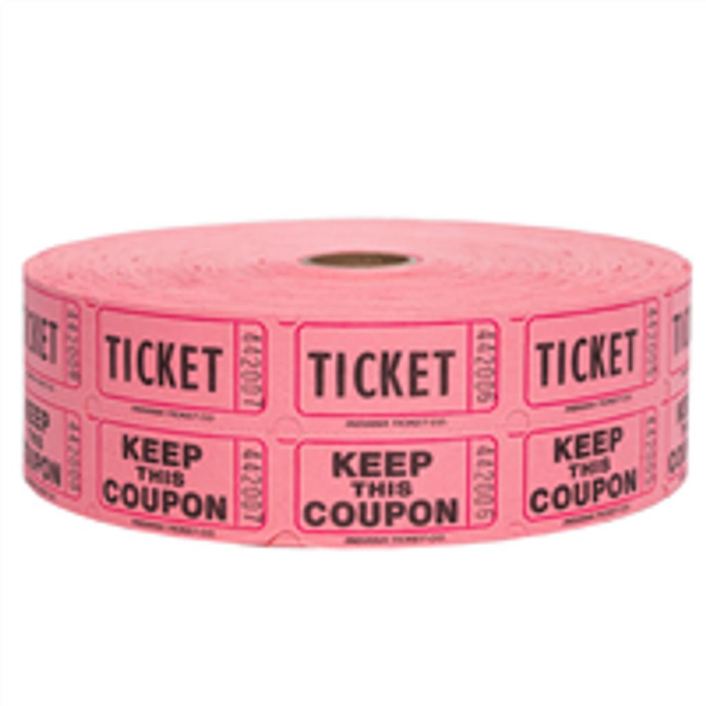 Double Roll Tickets - Pink - 50/50 Raffle Tickets - SKU M01211PK
