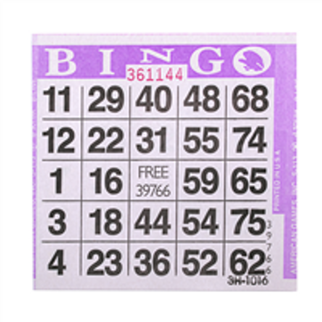1on Purple Bingo Cards, 500 ct