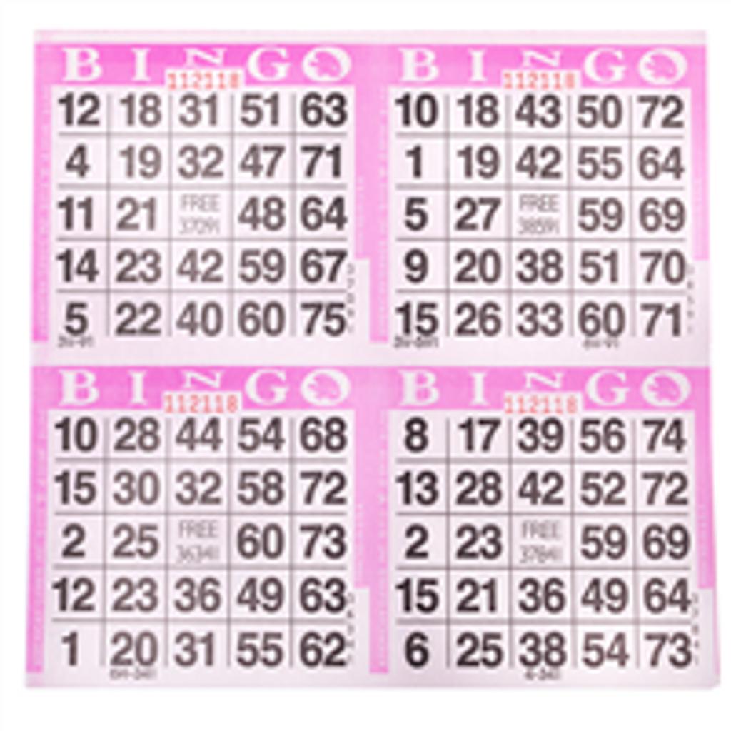 4on Purple Bingo Cards, 750 sh