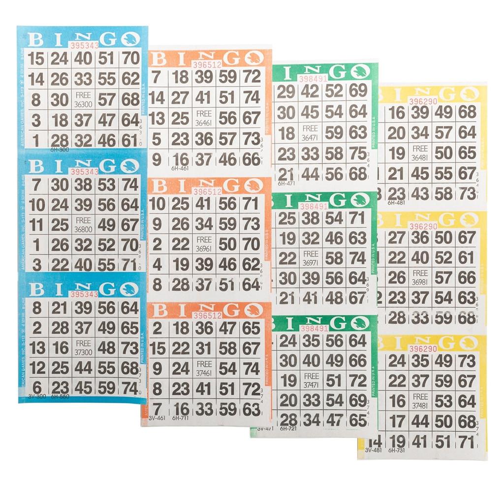 Bingo Books: 3 on 4 ups - 100