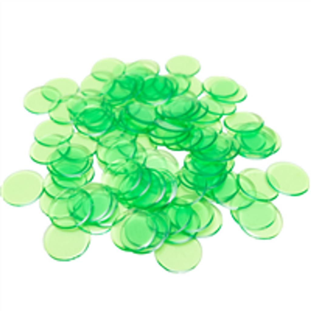 "7/8"" Lt Green Plastic Bingo Ch"