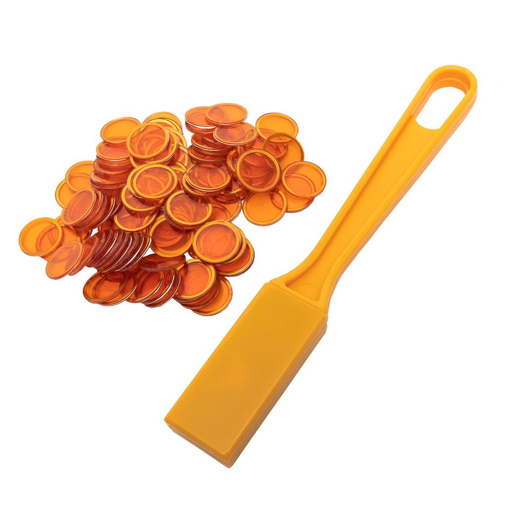 Magnetic Bingo Wand with 100 Bingo Chips - Orange - Bingo Accessories - SKU B007940O