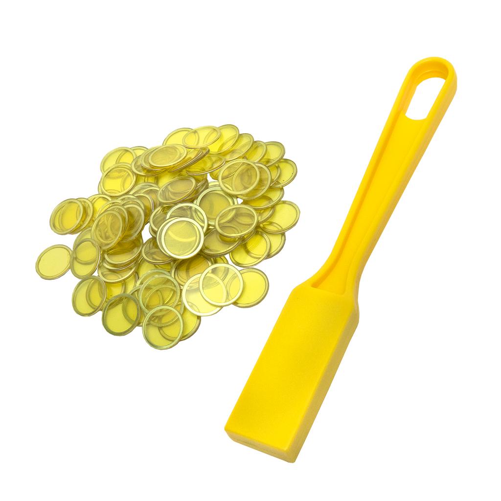 Magnetic Bingo Wand with 100 Bingo Chips - Yellow - Bingo Accessories - SKU B007940Y