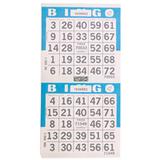 2on Blue Bingo Paper Game Cards - Vertical - 750 per pack - SKU AG2VBL