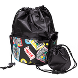 Lucky Print Bingo Bag, Black