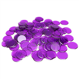 "7/8"" Purple Plastic Bingo Chip"
