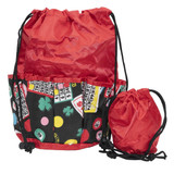 Lucky Print Bingo Bag, Red