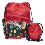 Bingo Bag - Lucky Print Design - Red - Bingo Accessories - SKU B008790