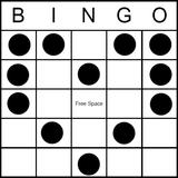 Bingo Game Pattern - Heart