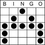 Bingo Game Pattern - Letter A