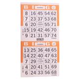 2on Orange Bingo Paper Game Cards - Vertical - 750 per pack - SKU AG2VOR