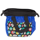 Blue Bingo Bag w/zipper, 6 pockets