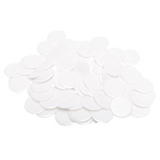 "7/8"" Solid White Plastic Chips, 100ct"