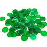 Magnetic Bingo Chips - Green - 100 chips - 3/4 inch size - SKU B007250