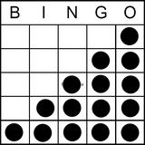 Bingo Game Pattern - Stairs