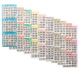 Bingo Books: 3 on 10 ups - 100