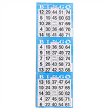 3 on Blue Bingo Cards - 1000 s