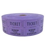 Double Roll Tickets - Purple - 50/50 Raffle Tickets - SKU M01211MG