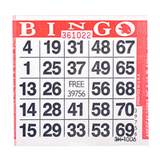1on Red Bingo Cards, 500 ct