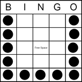 Bingo Game Pattern - Letter U
