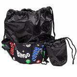 Space Print Bingo Bag, Black