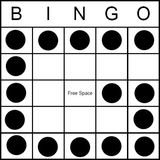 Bingo Game Pattern - Letter G
