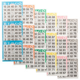 Bingo Books: 3 on 6 ups - 100 ct