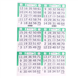 6V Green Bingo Cards, 500ct