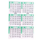 6on Green Bingo Paper Game Cards - Vertical - 500 per pack - SKU A6VGR