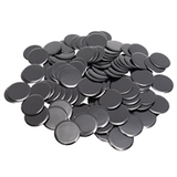 "7/8"" Solid Black Bingo Chips, 100ct"
