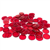 Magnetic Bingo Chips - Red - 100 chips - 3/4 inch size - SKU B007220
