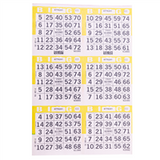 6V Yellow Bingo Cards, 500 ct