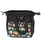 Black Bingo Bag w/zipper, 6 pockets
