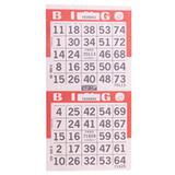 2on V Red Bingo Cards, 750 she