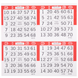 4on Die Cut Pushout Bingo Paper Game Cards - Red - 250 sheets - SKU W4DCR