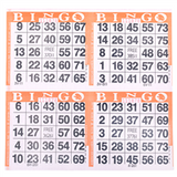 4 on Orange Bingo Cards - 750