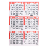 6V Red Bingo Cards, 500 ct