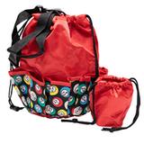 Bingo Bag - Bingo Ball Print Design - Red - Bingo Accessories - SKU B008560R