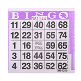 1on Purple Bingo Cards, 500 ct