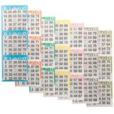 Bingo Paper Game Cards - 3 cards - 7 sheets - 100 books per pack - SKU AG3V7