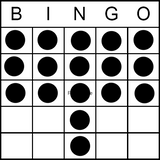 Bingo Game Pattern - window Shade