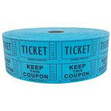 Double Roll Tickets - Blue - 50/50 Raffle Tickets - SKU M01211BL
