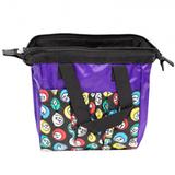 Purple Bingo Bag w/zipper, 6 pockets